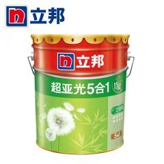 顺达装饰立邦漆 竹炭超亚光五合一内墙乳胶漆 白色室内墙面漆油漆涂料 18L