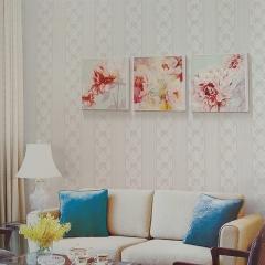 吉墙纸 环保透气无纺布墙纸简约时尚卧室客厅电视背景墙壁纸MJ-46 卷