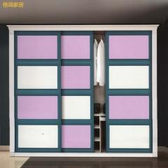 格调家居 衣柜吸塑衣柜推拉门现代简约 DBE-2008 定金