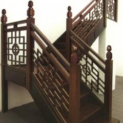 戴氏楼梯实木楼梯定制整体楼梯别墅复式旋转楼梯阁楼楼梯 图片色 实木 定金