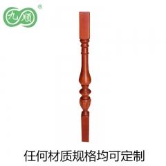 九顺木艺 定制实木木柱样式材料可定制白胚价60元/支
