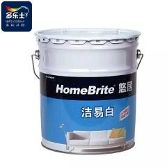 宏信木业多乐士洁易白乳胶漆高遮盖经济省料优质墙面漆白色涂料 20KG