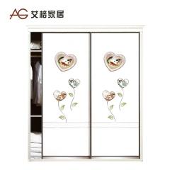 艾格家居定制整体衣柜简约时尚推拉门衣柜AG-60 图片色 实木 可定制 定金