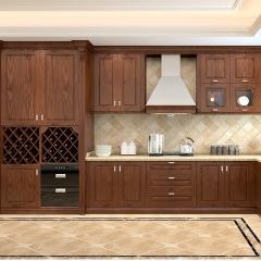 康柏橱柜 厨房装修全屋定制实木橱柜KB011 定金