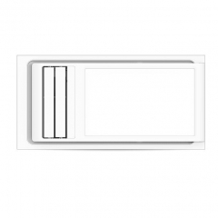 奥普浴霸风暖 浴室卫生间嵌入式暖风 遥控三合一 QDP2326A 300x600免费安装