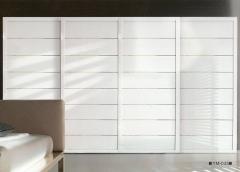 圣豪集成家居 推拉门衣柜 衣柜定制YM-035 图片色 可定制颗粒板、多层实木、指接实木 YM-03