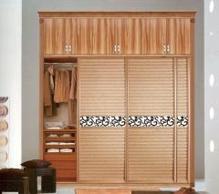 圣豪集成家居 推拉门衣柜 衣柜定制YM-042 图片色 可定制颗粒板、多层实木、指接实木 YM-04