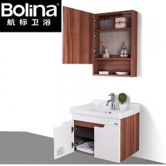 bolina航标卫浴卫生间不锈钢柜体+实木门板浴室柜MG5120 不锈钢柜体+实木门板(不含配件)