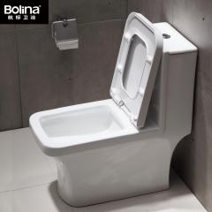 Bolina航标卫浴脲醛盖板卫浴洁具抽水陶瓷马桶  防溅水 W1981 305mm