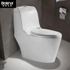 bolina航标卫浴虹吸式坐便器连体抽水马桶超漩陶瓷座便器1511 305mm