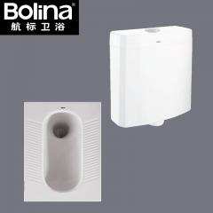 航标卫浴卫生间蹲便器带冲水箱套装家用防臭大便器蹲坑防滑陶瓷 W6150+TS5101