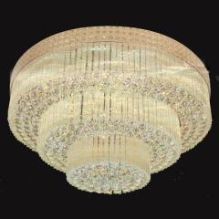 家家旺灯饰   圆形水晶欧式吸顶灯 客厅 尺寸与大小咨询客服