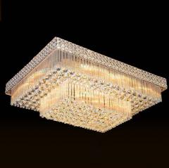 家家旺灯饰 吸顶灯方形2层欧式奢华客厅灯 尺寸与大小咨询客服