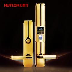 汇泰龙 智能门锁家用防盗门指纹锁密码锁 智能电子锁HZ-69005带遥控 拉丝镍