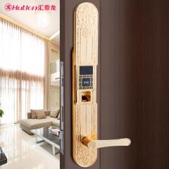 汇泰龙 智能门锁家用防盗门指纹锁密码锁 智能电子锁大门锁HZ-69006 拉丝金