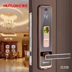 汇泰龙 智能门锁五金指纹锁家用智能门锁 电子刷卡锁密码锁防盗锁HZ- 69008 红古铜