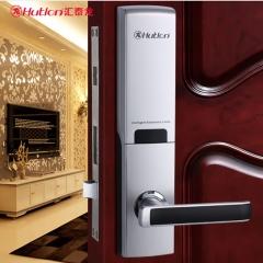 汇泰龙 智能门锁家用防盗门大门指纹锁密码锁木门不锈钢门智能锁HZ-69001 泰坦银