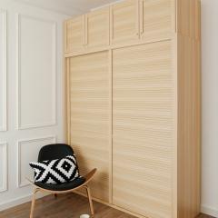 米兰印象全屋定制  衣柜现代简约风格 颜色可定制 百叶风格移门 颜色可定制 欧洲进品克诺斯邦E0级颗