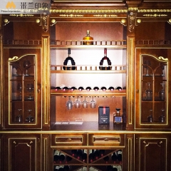 米兰印象全屋定制  多层实木贴红橡实木皮 欧式风格  酒柜/酒窖 颜色可定制 多层实木贴红橡实木皮